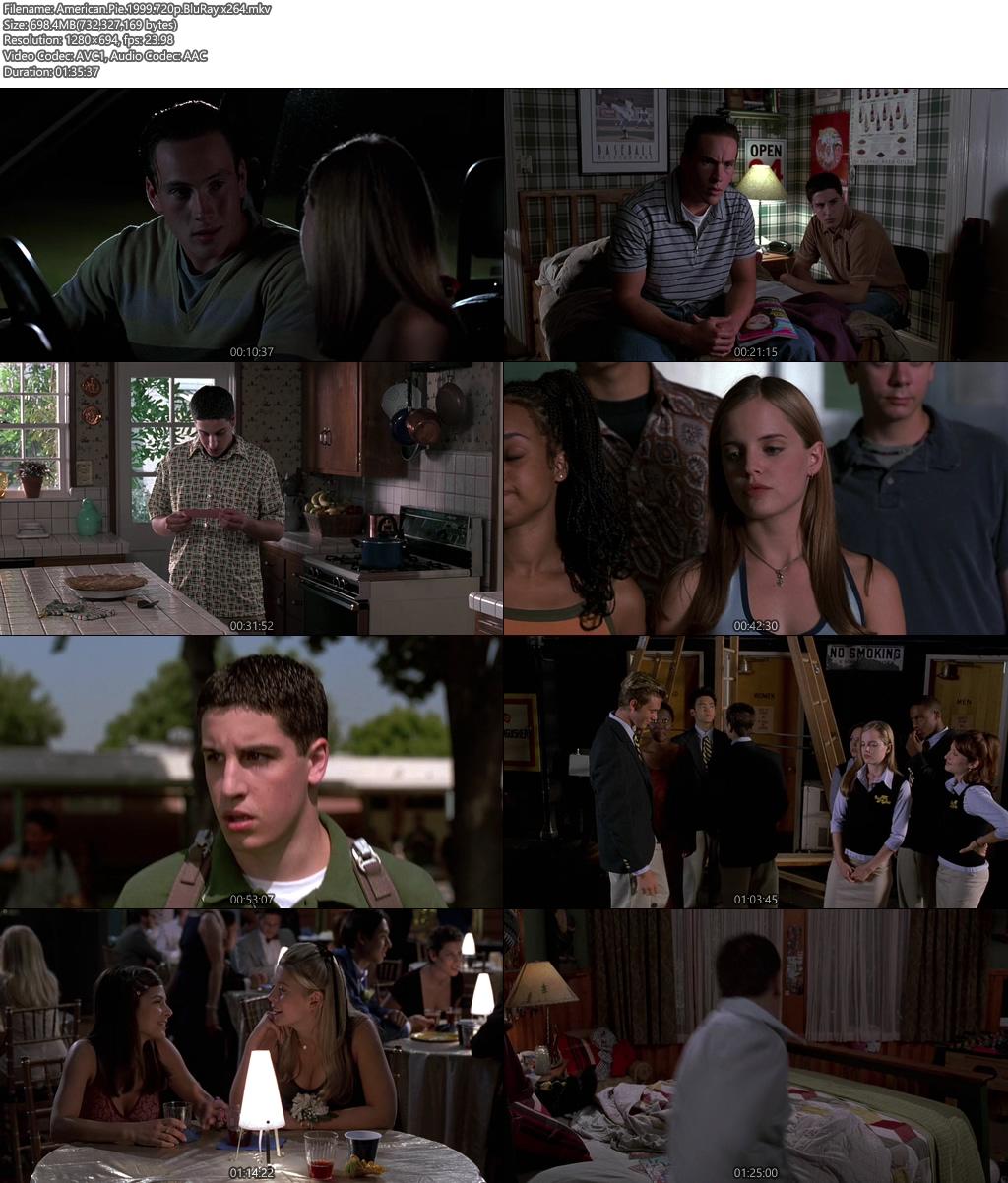 American Pie 1999 720p BluRay x264 | 480p 300MB | 100MB HEVC Screenshot