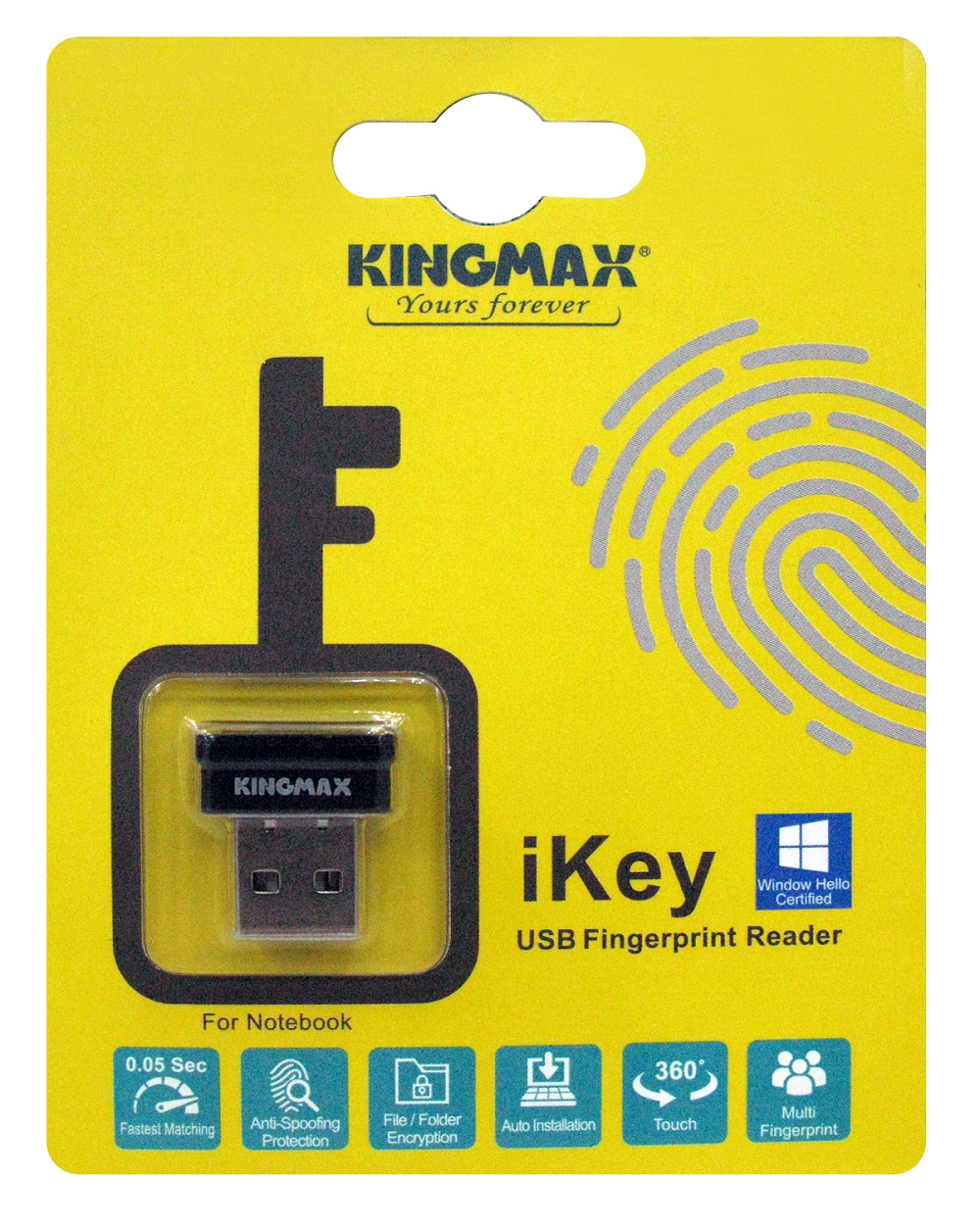 KINGMAX iKey- Tiny USB Fingerprint Reader