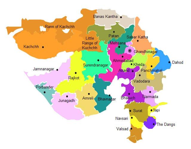 Gujarat map,maps,gujarat state map