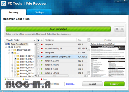 FILE TOOLS TÉLÉCHARGER RECOVER 9.0.1.221 PC