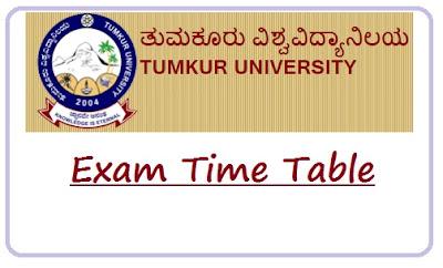 Tumkur University Time Table Nov 2019