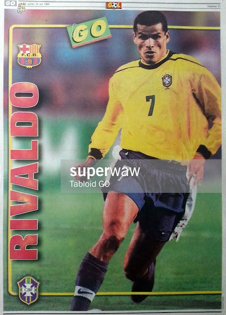 Poster Rivaldo (Brasil 1998)