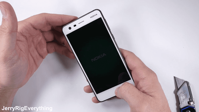 Nokia 2 survives scratch, burn and bend tests