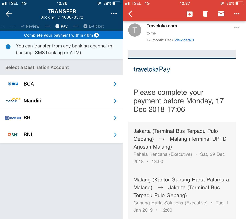 Cara Booking Tiket Bus Lewat Aplikasi Traveloka, Gampang dan Gak