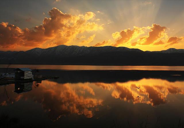 Zarivar Lake. Kurdistan Iran