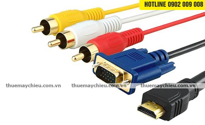 Cho thuê cáp tín hiệu AV, VGA, HDMI và BỘ TRỘN, BỘ SWITCH
