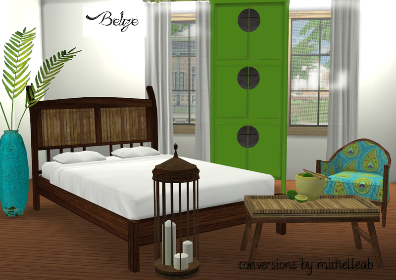 My sims 4 blog belize bedroom set by michelleab for K michelle bedroom furniture