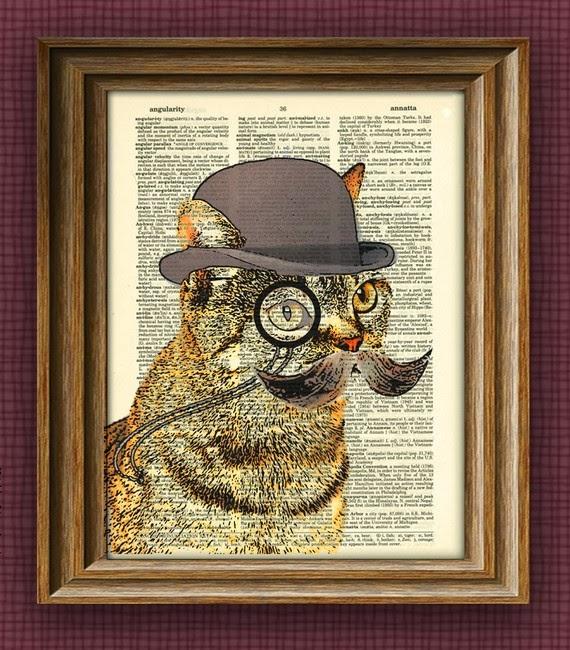 Collage-o-Rama. La Musa Decoración, Cat, Gato, Dandy, Picture, Collage