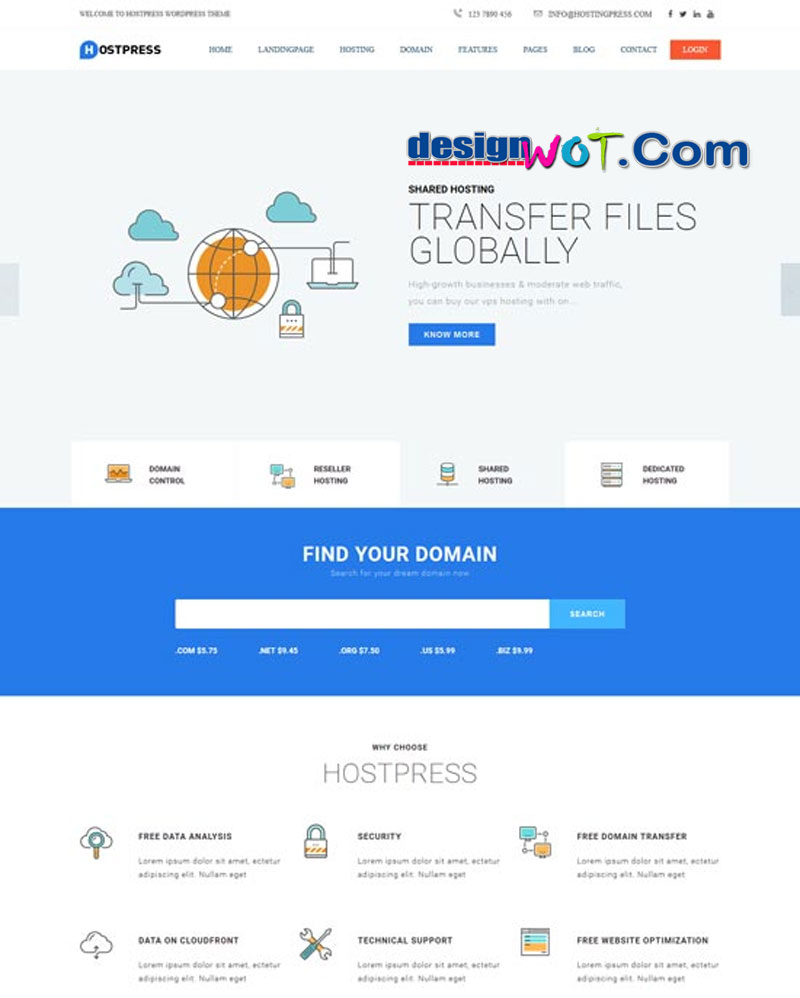 HostingPress WHMCS Hosting WordPress Theme