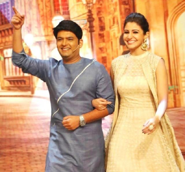 Kapil Sharma With Actress Anushka Sharma In His Show