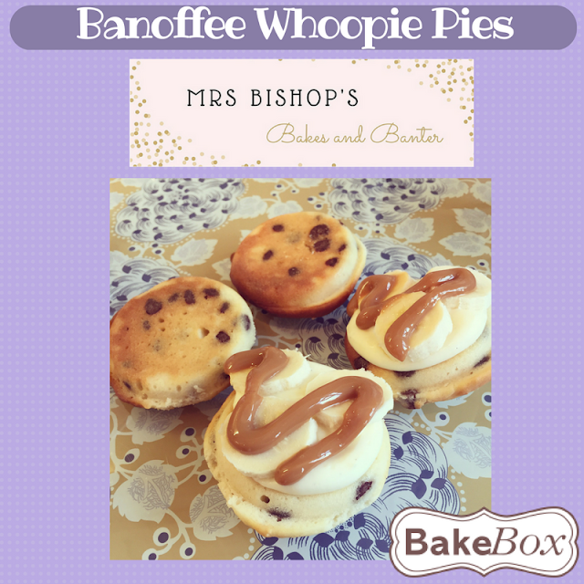 Banoffee Whoopie Pies by Mrs Bishop using Bake Box