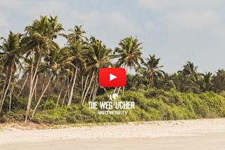 Die Wegsucher auf Weltreise Arkadij und Katja in Benaulim Goa Indien Strand und Palmen