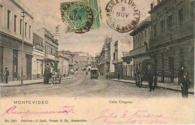 Postal Uruguay y Florida 1904