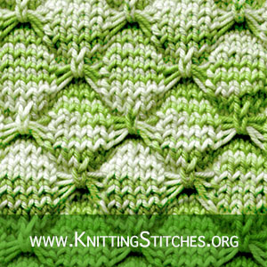Butterfly Stitch | Knitting Stitch Patterns. Very Easy Design for Sweater and Cardigan