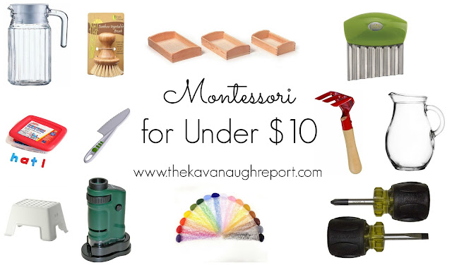 Montessori and Montessori friendly ideas costing less than $10