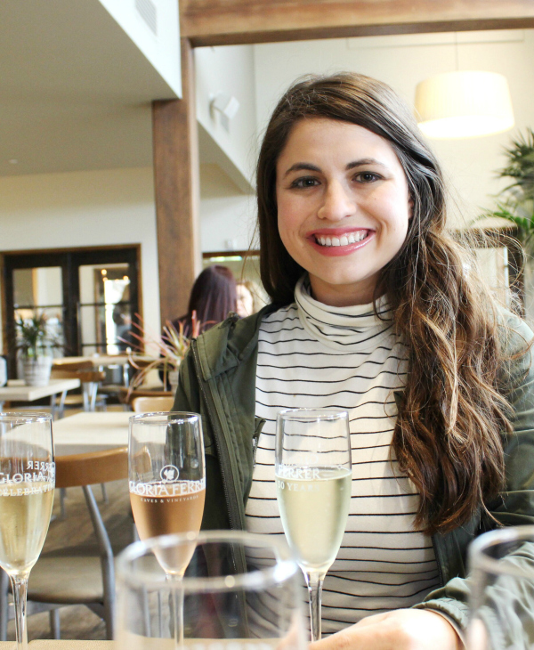 A travel guide to 24-hours in Sonoma, California | sparkling wine tasting at Gloria Ferrer