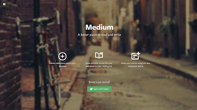Mediumのトップページ
