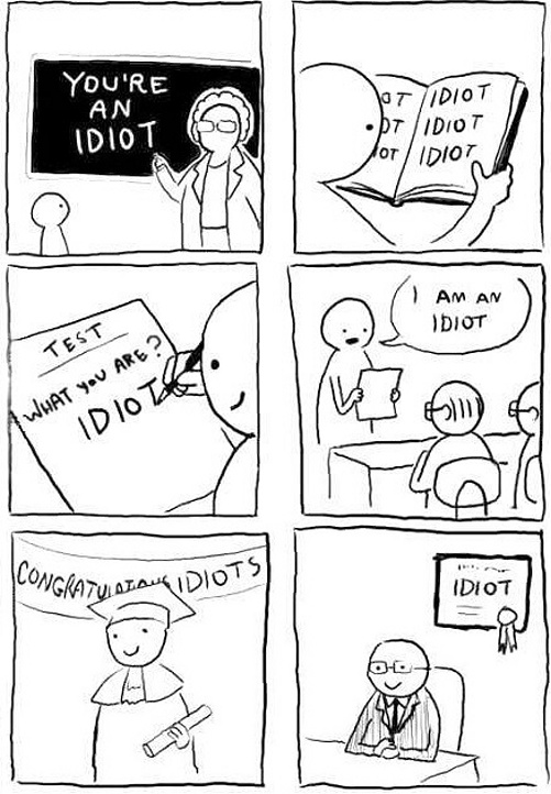 IDIOTS EDUCATION