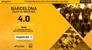betfair supercuota 4 Barcelona gana Granada Liga 29 octubre