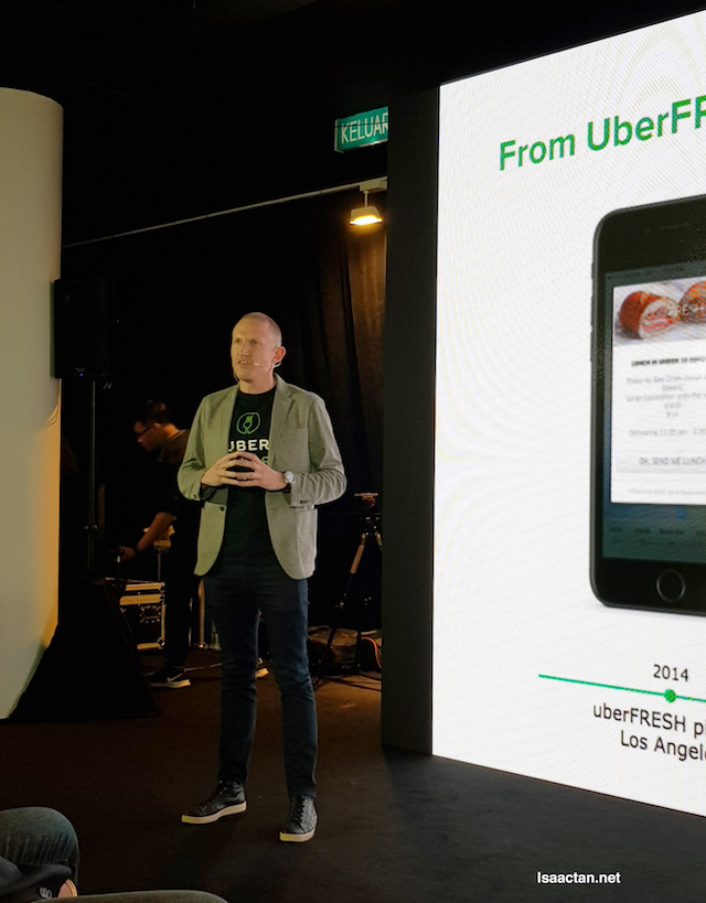 Allen Penn, Regional General Manager, APAC or UberEATS introducing to us UberEATS Malaysia