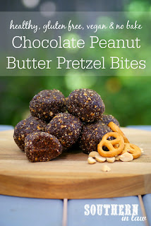 Healthy No Bake Chocolate Peanut Butter Pretzel Bliss Balls Recipe