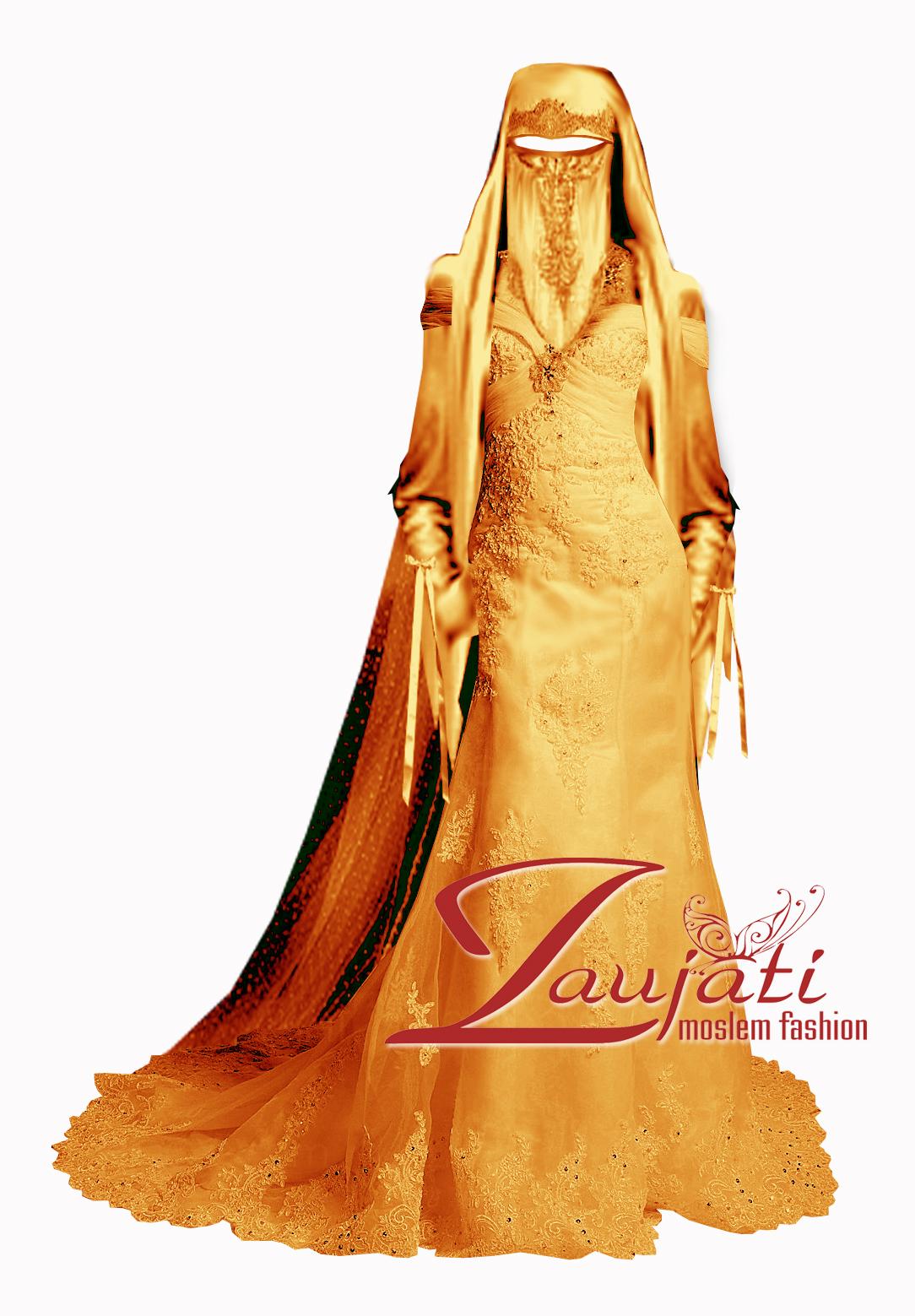 Gaun Pernikahan Muslimah Syar I Jual Cadar Niqob Cadar Pengantin