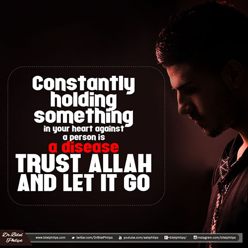 Trust Allah and let it Go - Religion Quotes