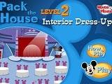 Hora de decorar el interior del club de Mickey Mouse, al igual que en el primer juego de Pack the House es momento de dar un toque personal al gran salon del club. Elige el estilo del escenario, decoraciones, colores del interior del club de Mickey Mouse.