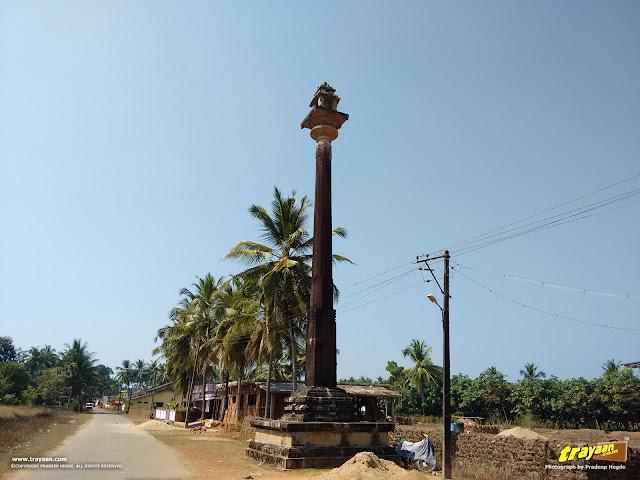 The Manasthambha of Neminatha Temple, outside the temple enclosure