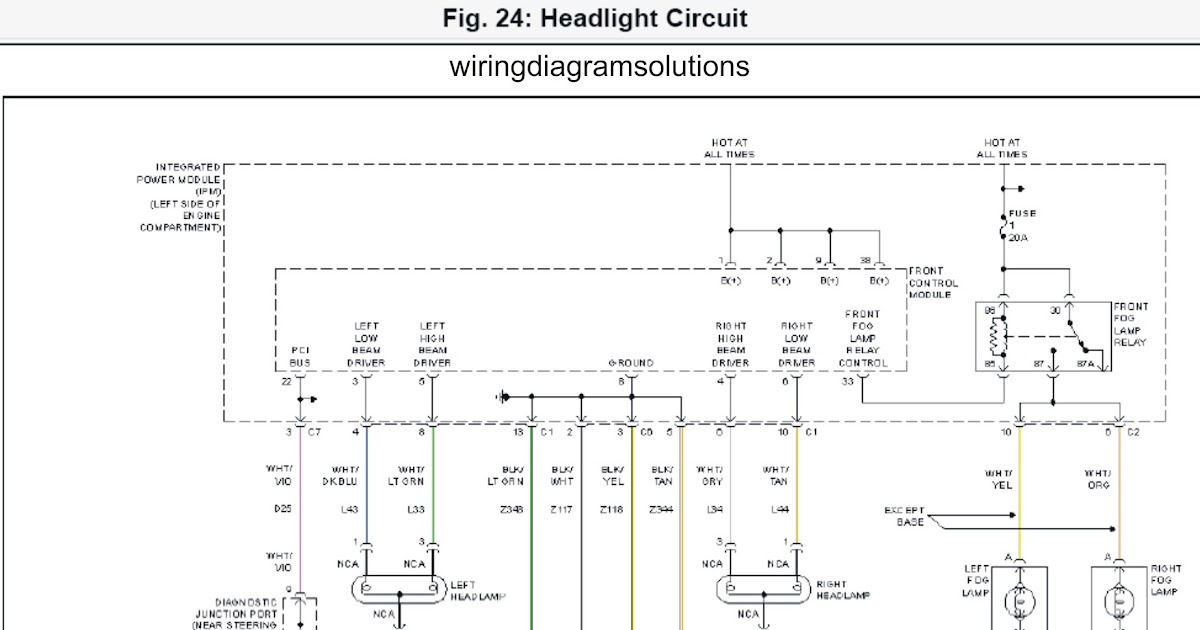 2002 Dodge Grand Caravan EL System Wiring Diagrams Headlight Circuit | Schematic Wiring Diagrams