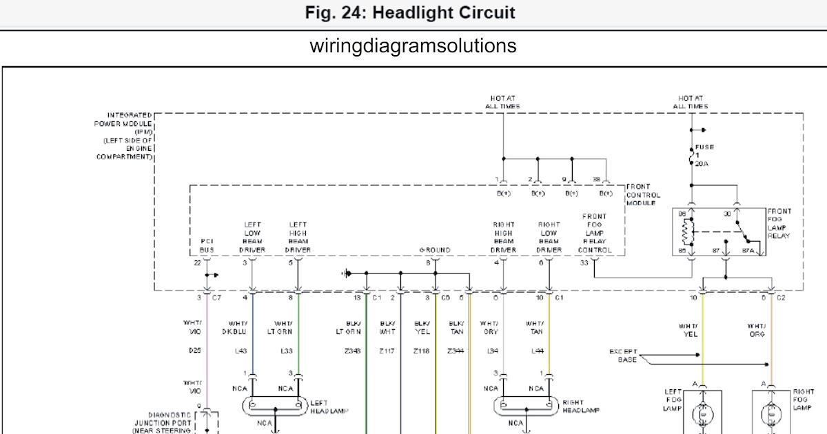2002 Dodge Grand Caravan EL System Wiring Diagrams Headlight Circuit | Schematic Wiring Diagrams