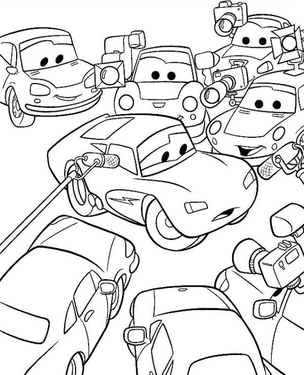 Tranh tô màu vương quốc xe hơi 15