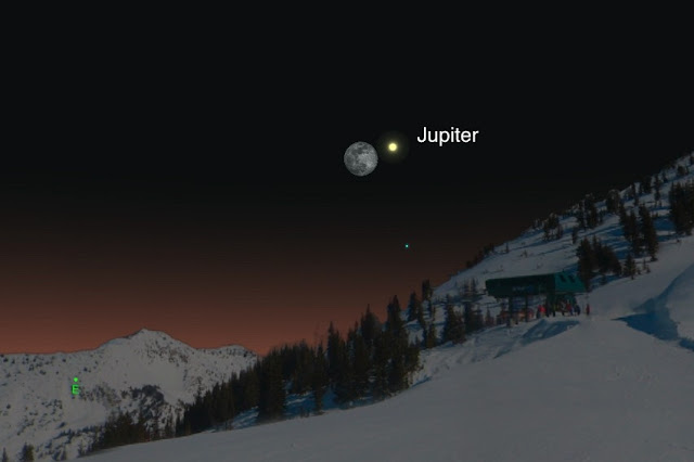 jupiter and moon