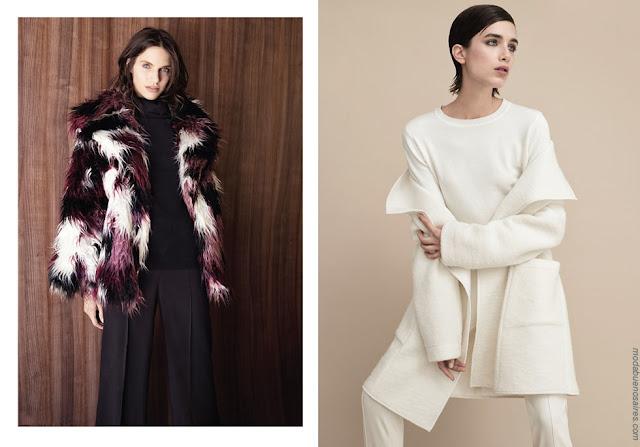Tapados y blusas de moda mujer invierno 2018. Moda mujer invierno 2018.