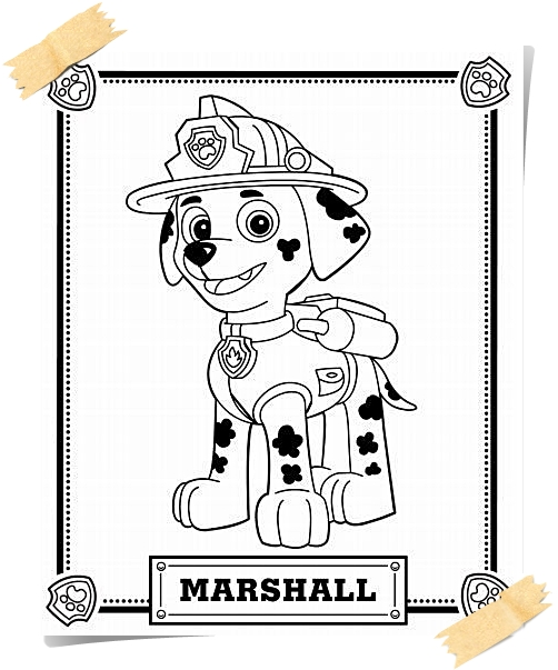 Paw Patrol Coloring Pages Printable Quotes | Jogos Online Wx ... | 603x502