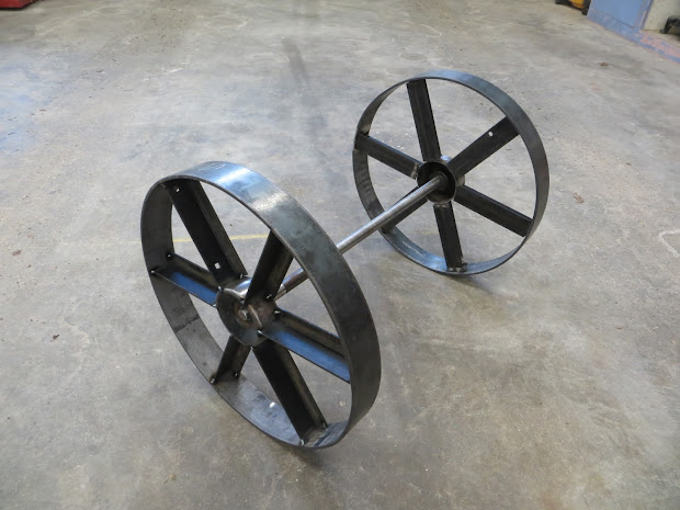Steel Wheels for Torch Cart