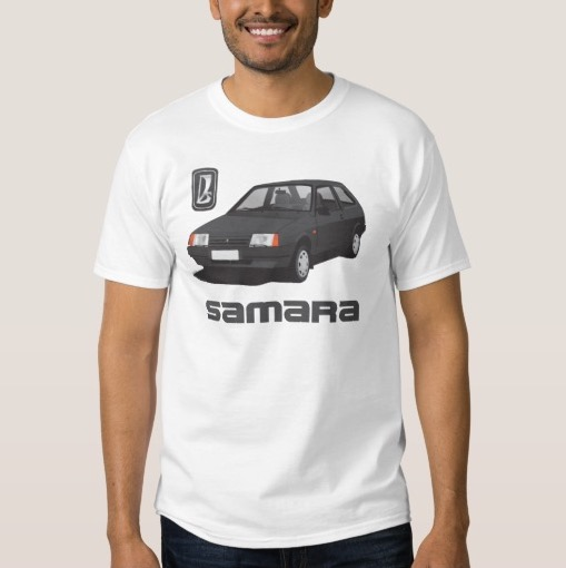 VAZ-2109 Lada Samara with gray text t-shirt