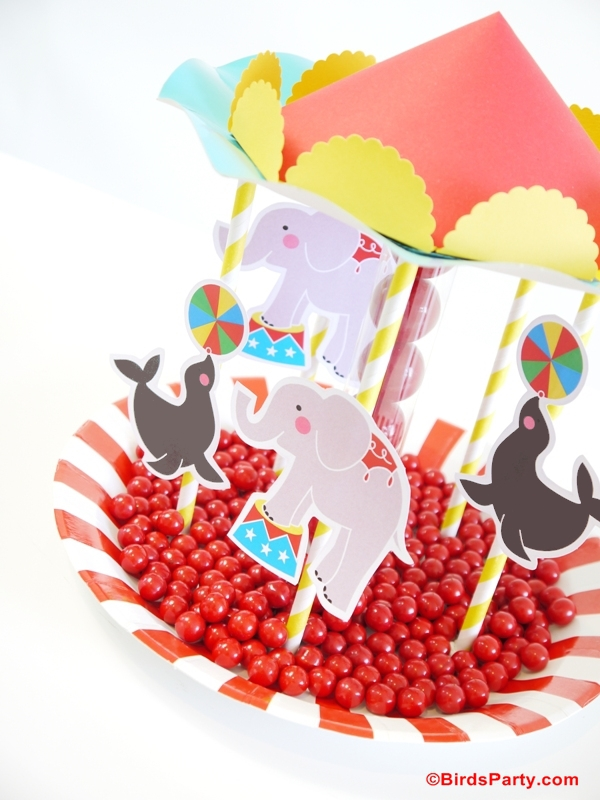 Circus Birthday Party Ideas Diy Carousel Candy Centerpiece Party