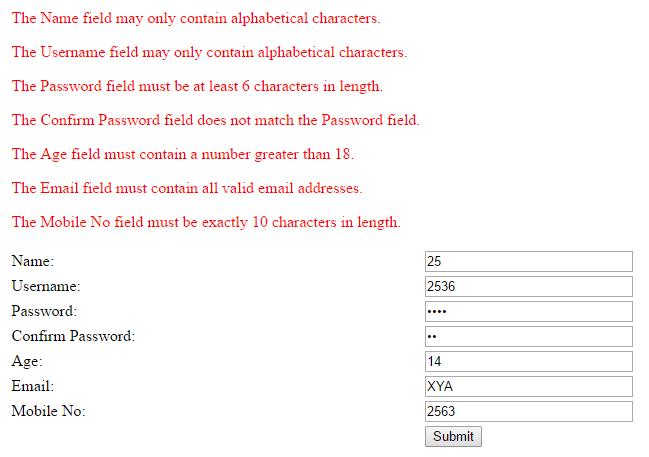 Validate Form in Codeigniter