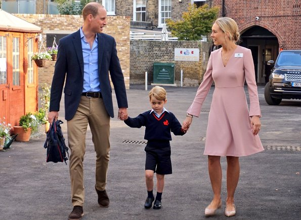 The summer uniform for Thomas's sleeve shirt, bermuda shorts and socks is available at John Lewis. Kate Middleton