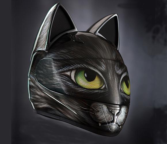 Empresa cria estilosos capacetes inspirados em gatos