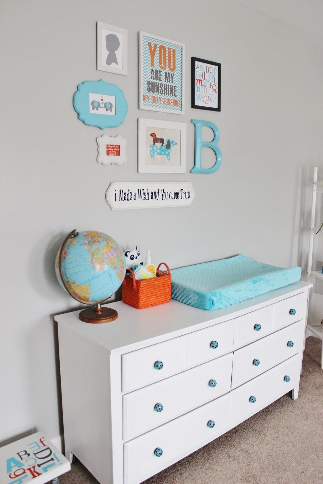 Delightfully Noted Home Tour - Modern Fresh Farmhouse Little Boys Room Nursery - Gallery Wall Decorating Ideas