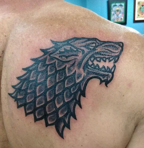 dire Wolf Tattoos