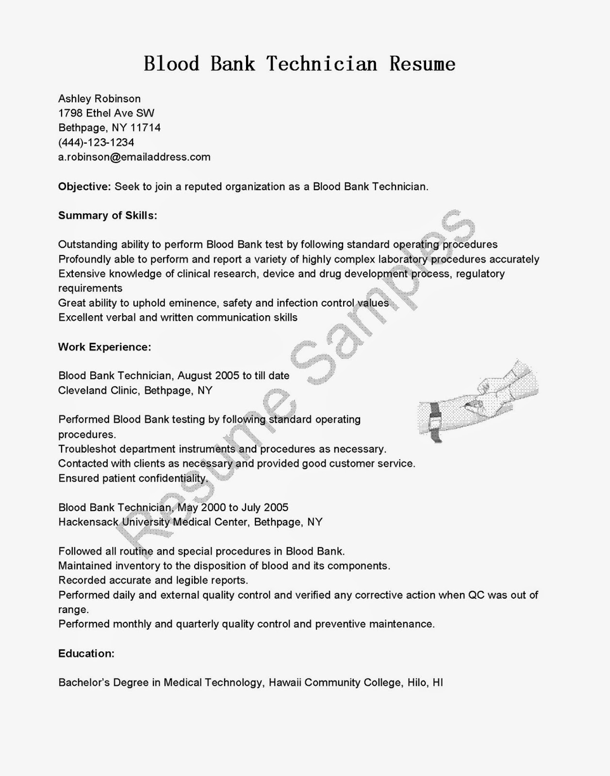 psw resume example