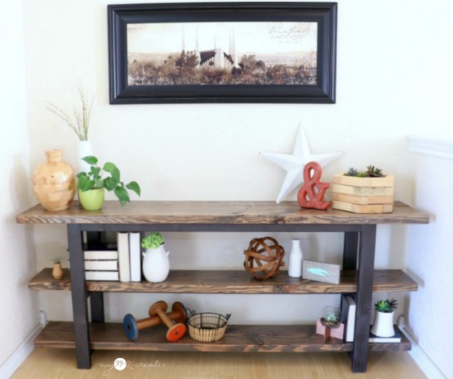 How to build your own DIY Console Table free plans plus picture tutorial, MyLove2Create