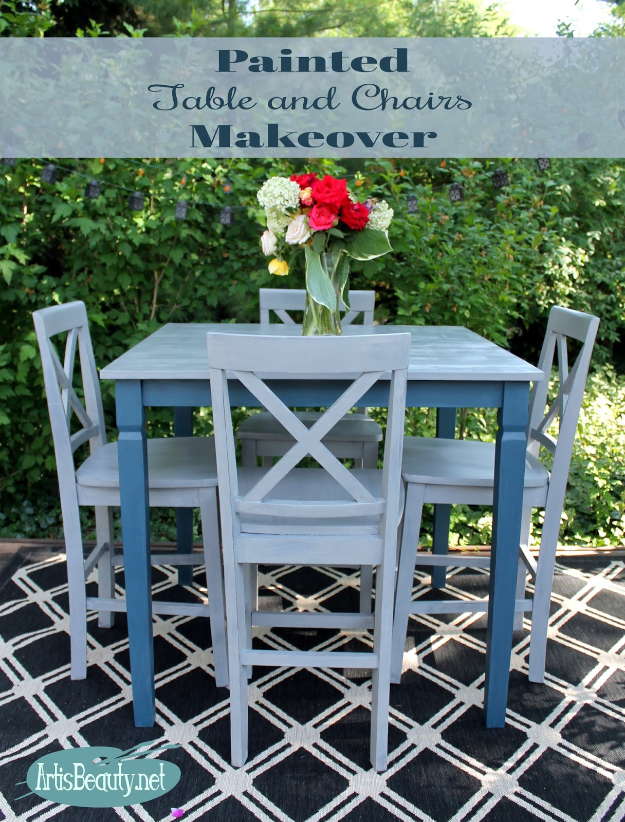 Fresh roadside rescue free table and chairs custom painted makeover fixer upper diy farmhouse style