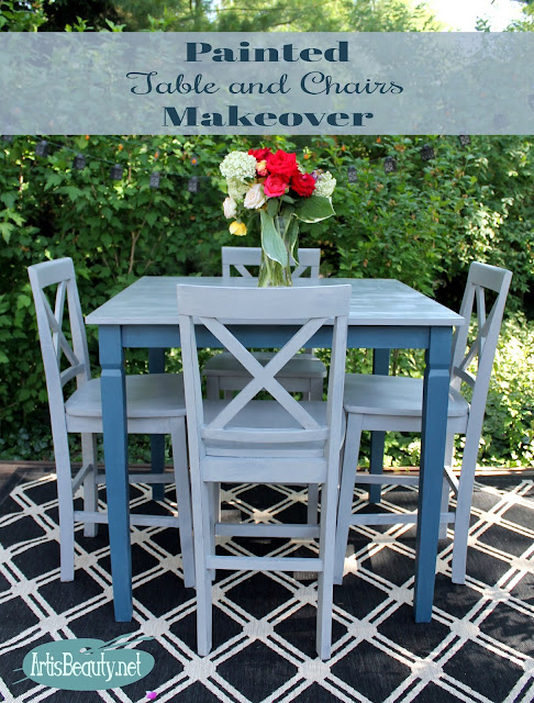 roadside rescue free table and chairs custom painted makeover fixer upper diy farmhouse style