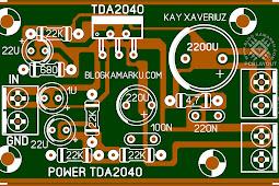 PCB Layout Power TDA 2040  Mono Amplifire
