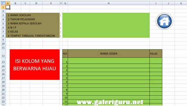 Contoh Aplikasi Nilai Sikap Guru Bk Deskripsi Otomatis Format Excel