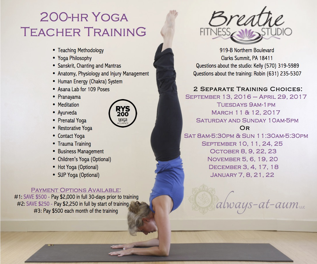 For More Information About Upcoming Trainings Please Read Below And Visit The Always At Aum Website Or Contact Anne Infoaumsweetaumyoga